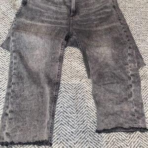 31 size Jeans with ripped bottoms from dynamite